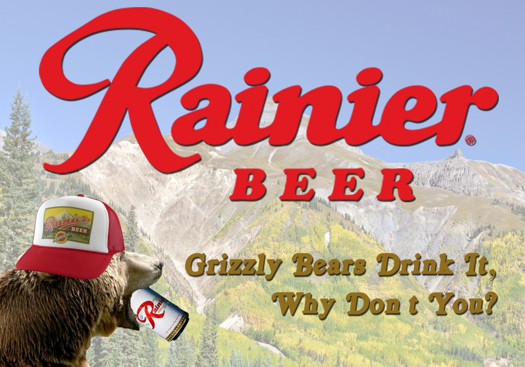 Rainier Beer Bear